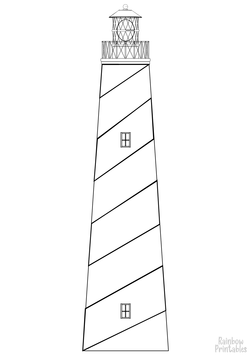 Coloring-Activity-lighthouse-coloring-page for Kids