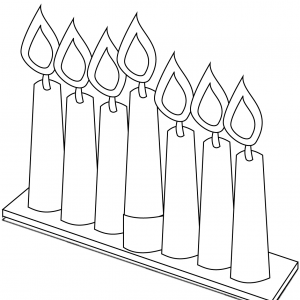 SEVEN CANDLES KWANZAA HOLIDAY Free Clipart Coloring Pages for Kids Adults Art Activities Line Art