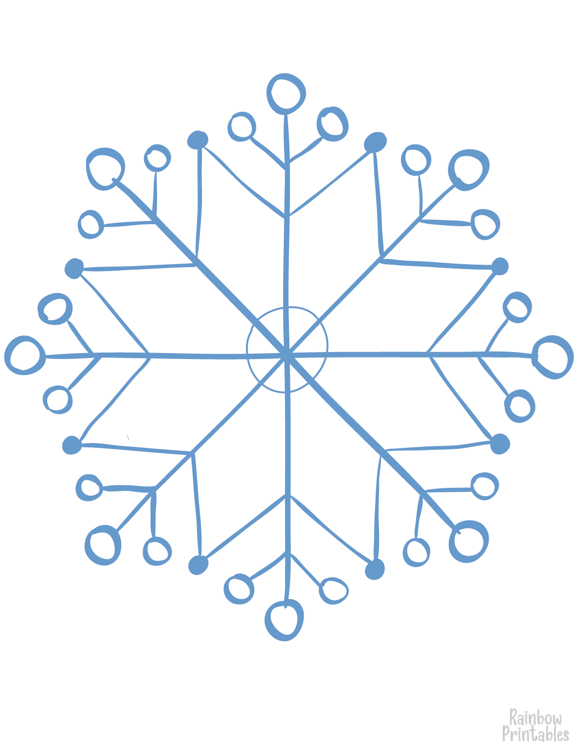 snowflake 11 coloring page