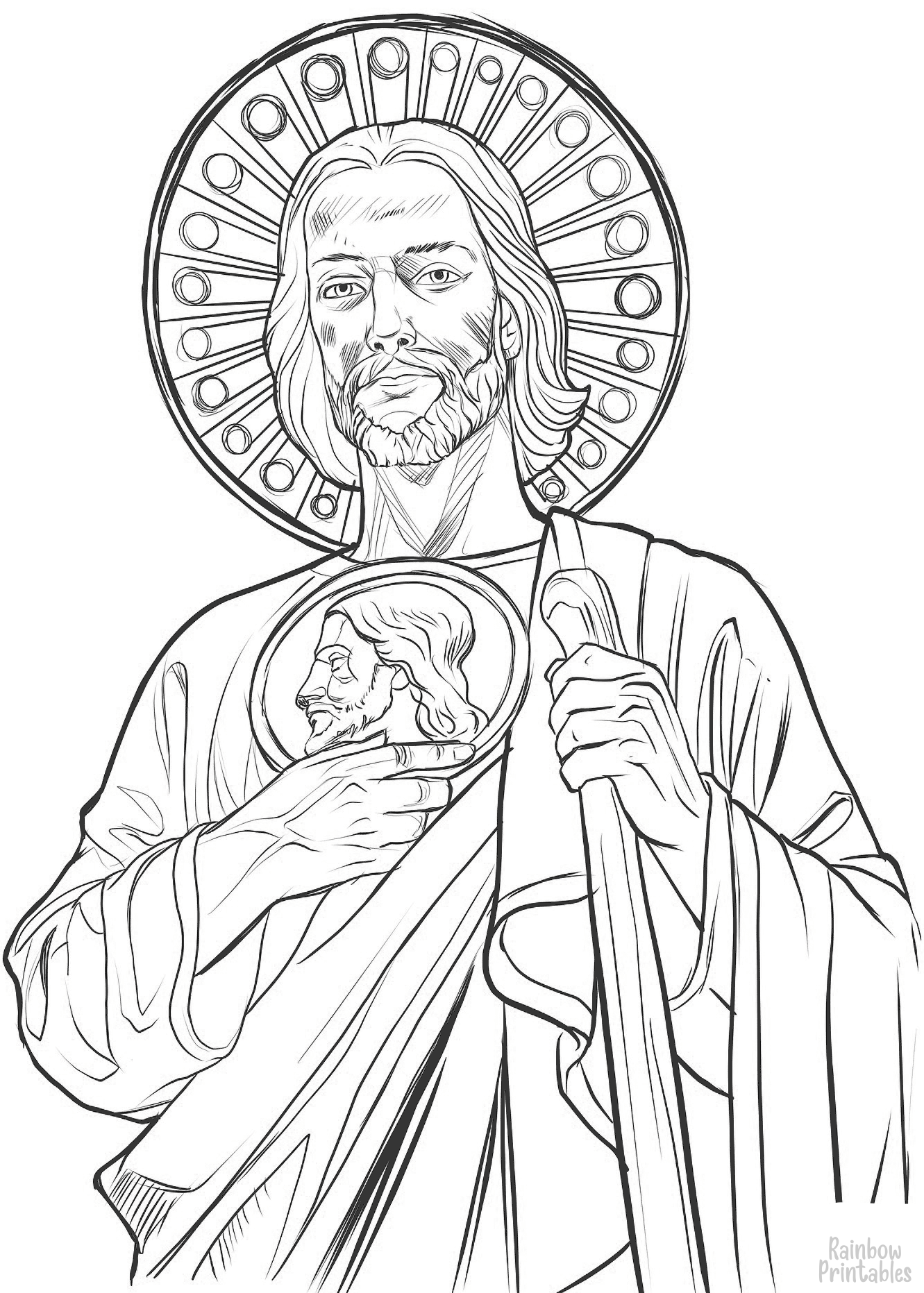st jude thaddeus coloring page
