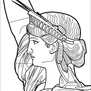 STATUE-OF-LIBERTY-Clipart Coloring Pages for Kids Adults Art Activities Line Art