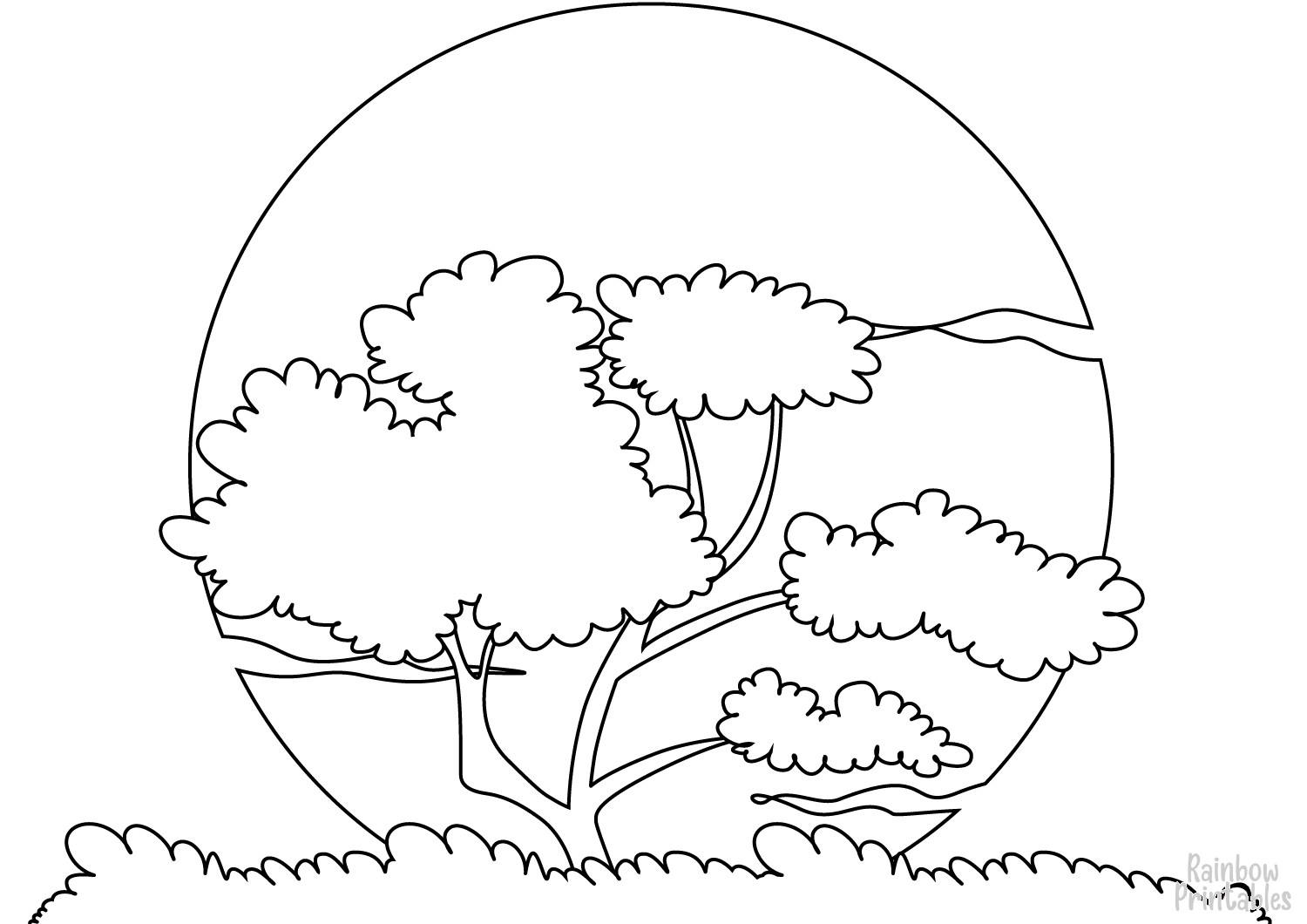 Free Scenery & Landscapes Coloring Pages
