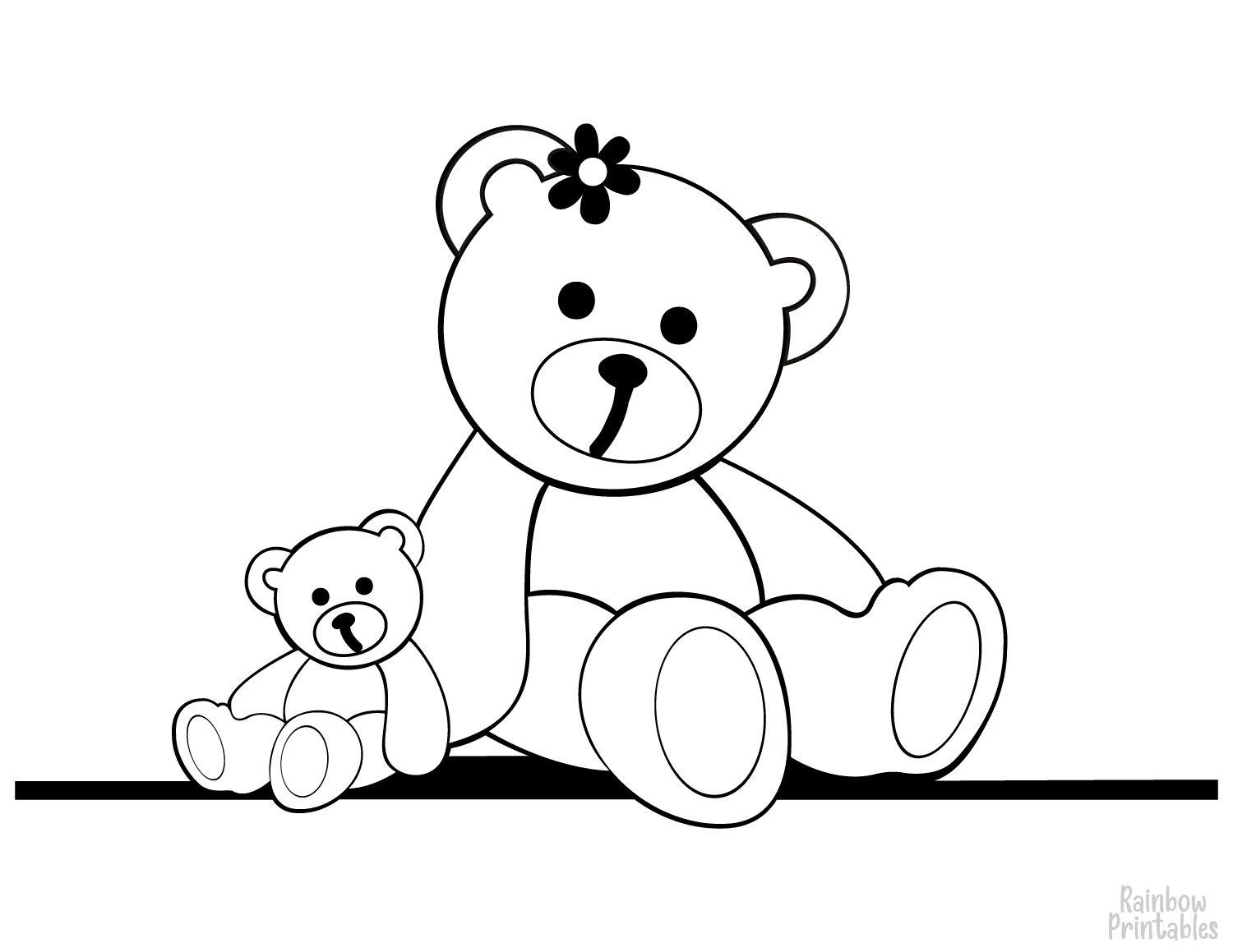STUFFED TEDDY BEAR TOY Clipart Coloring Pages for Kids Adults Art Activities Line Art