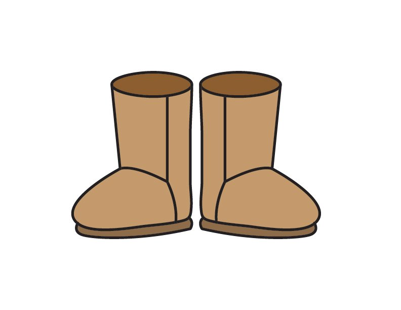 How To Draw Shoes: Ugg Boots (Step by Step Tutorial for Kids)
