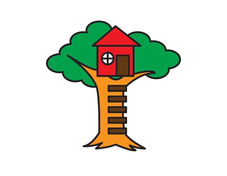 How To Draw a Simple Cartoon Tree House for Kids – Step by Step Guide