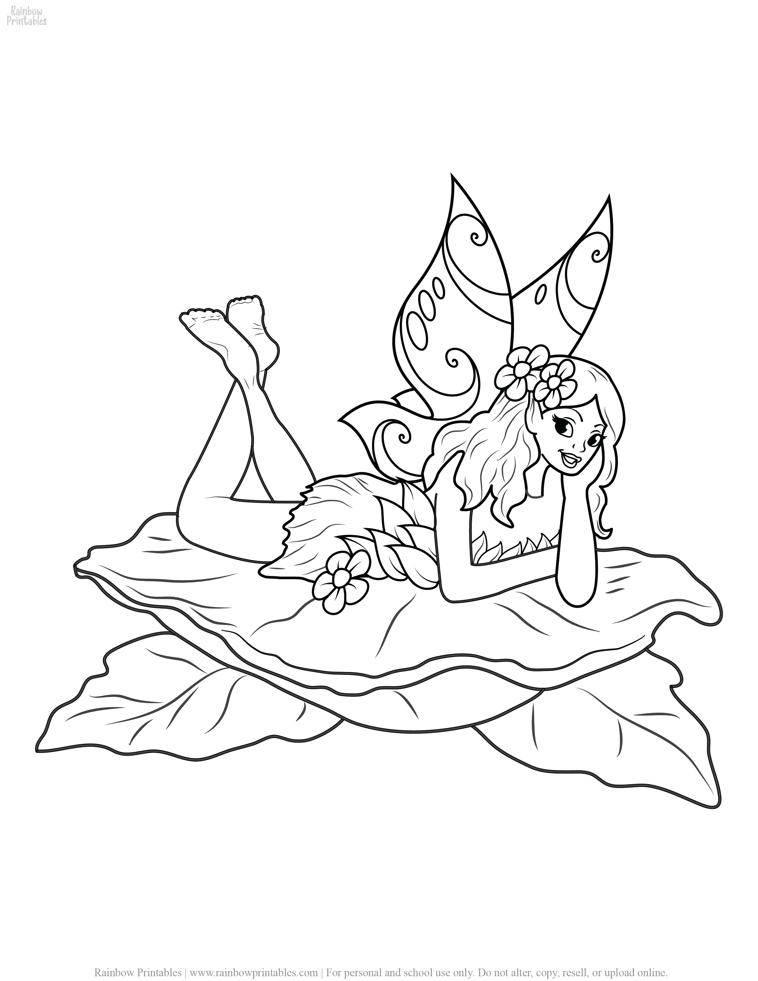 COLORING PAGES FOR GIRLS FREE PRINTABLE ACTIVITIES FOR KIDS 33