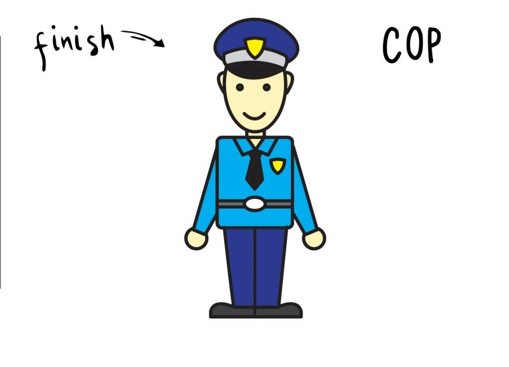 How to Draw Cartoon Cop Final