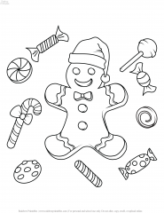 FREE CHRISTMAS HOLIDAY COLORING PAGES FOR KIDS 21
