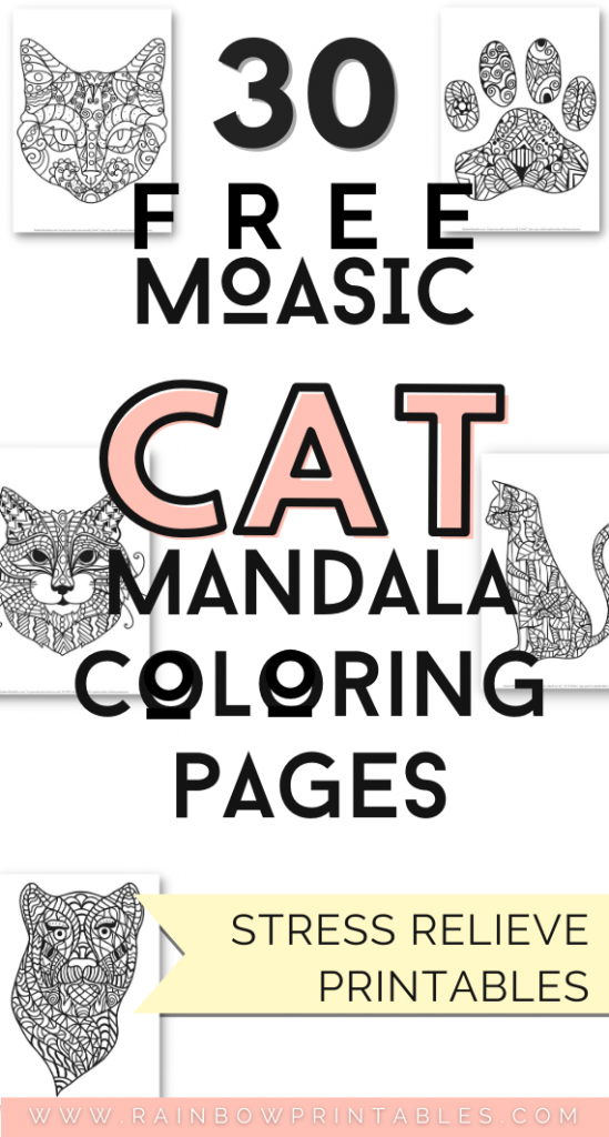 I had so much fun coloring in these pages under coronavirus quarantine ^^ -- If you're a cat lover, these free mosaic tiled kitty cat coloring pages are perfect for you. Perfect for adults, teens, grown ups. Animal pattern mandala pattern anti-stress for depression. Art activity for free printing at home. Visit our master coloring page collection (over 750 coloring pages) adult coloring sheet stress relief free printables drawing #Mandala #Printables #Freebie #ColoringPages #Coloring #Book