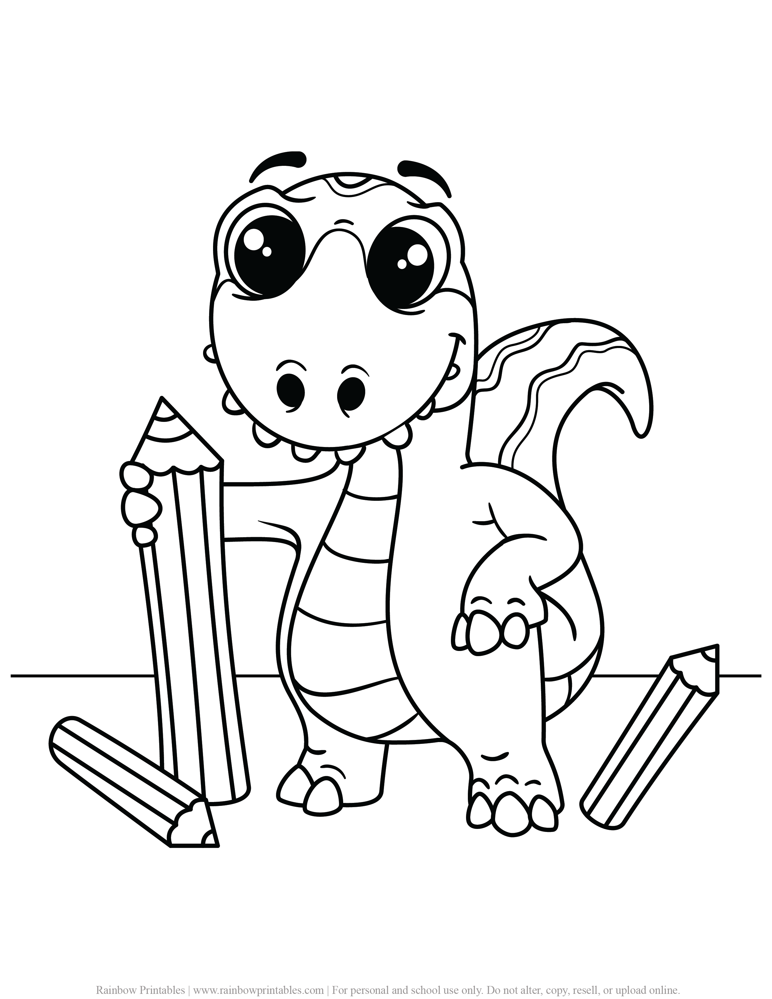 FREE DINOSAUR COLORING PAGES ACTIVITY FOR KIDS AND BOYS DINO DRAGON PRINTABLE-10