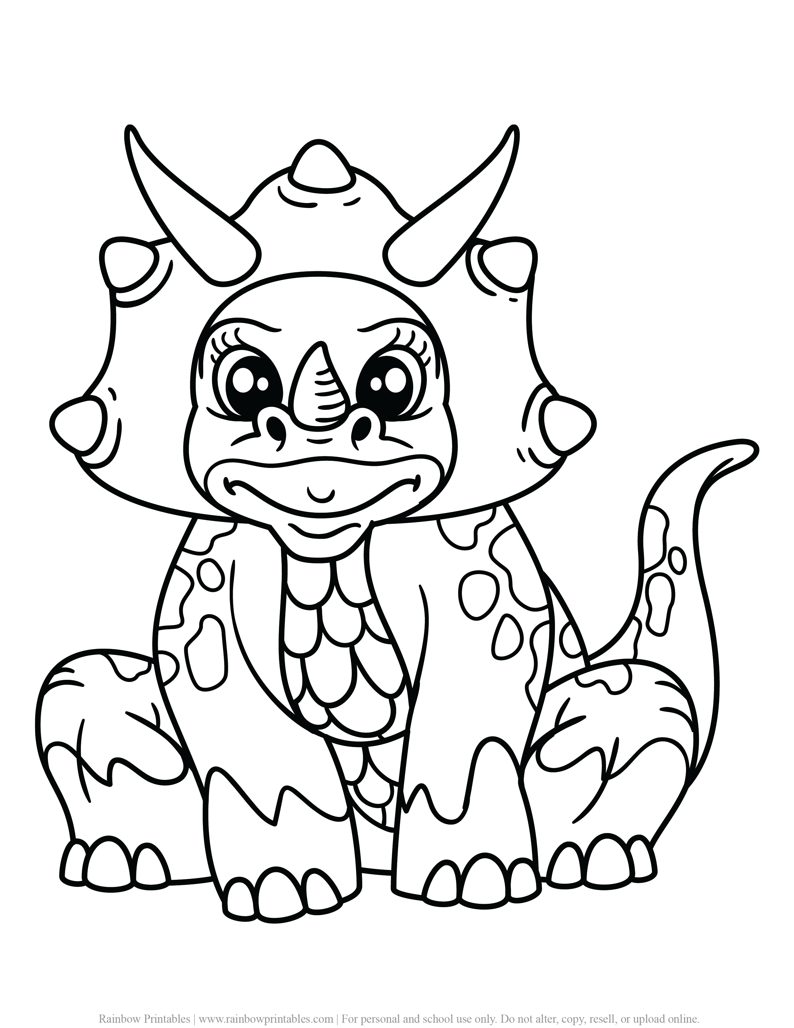 FREE DINOSAUR COLORING PAGES ACTIVITY FOR KIDS AND BOYS DINO DRAGON PRINTABLE-12