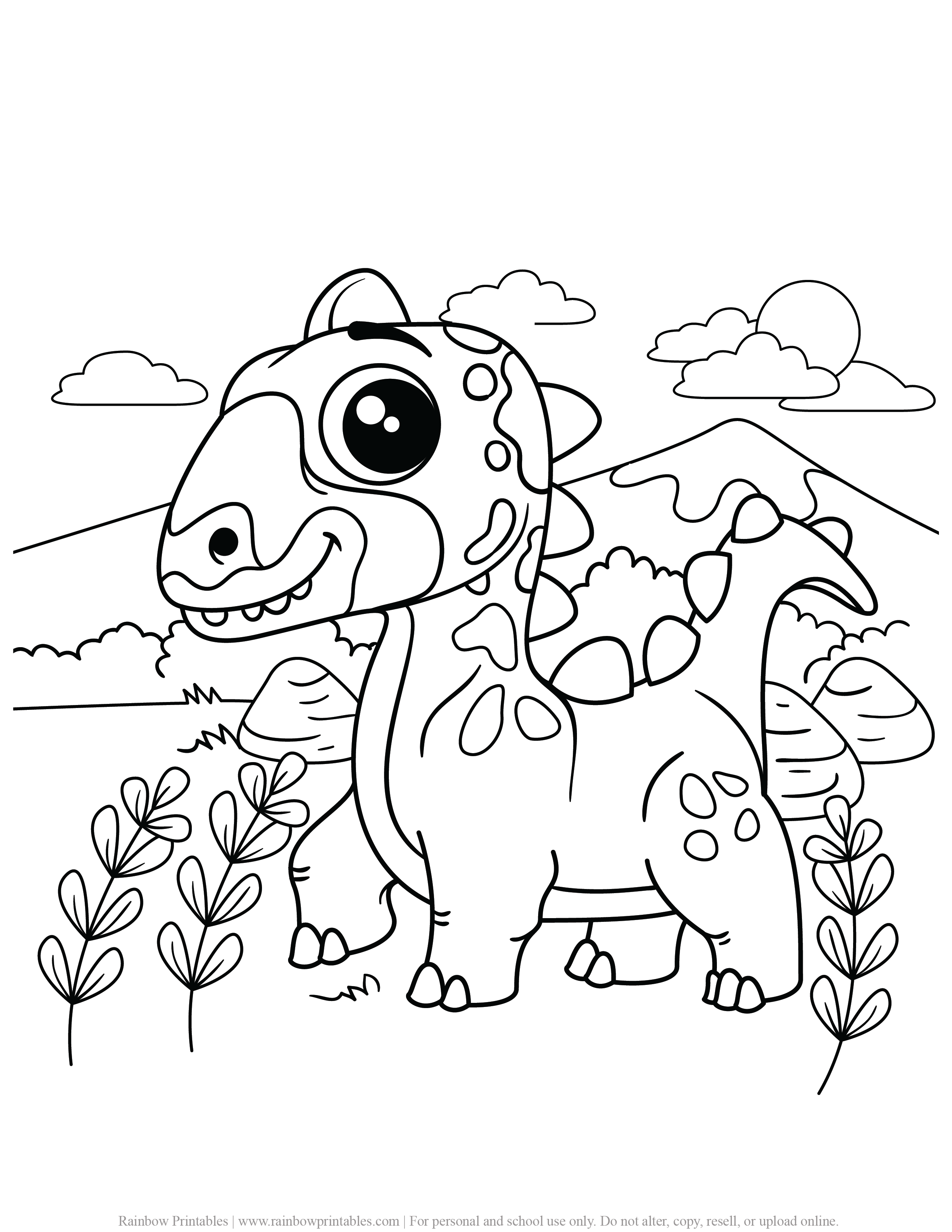 FREE DINOSAUR COLORING PAGES ACTIVITY FOR KIDS AND BOYS DINO DRAGON PRINTABLE-14