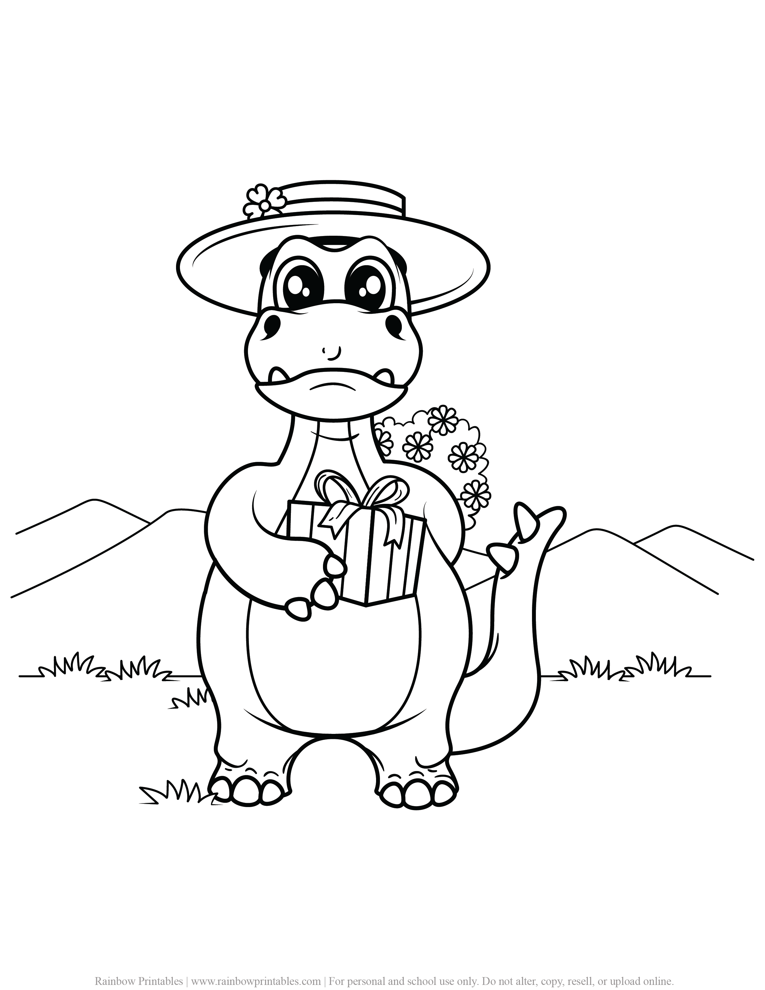 FREE DINOSAUR COLORING PAGES ACTIVITY FOR KIDS AND BOYS DINO DRAGON PRINTABLE-15