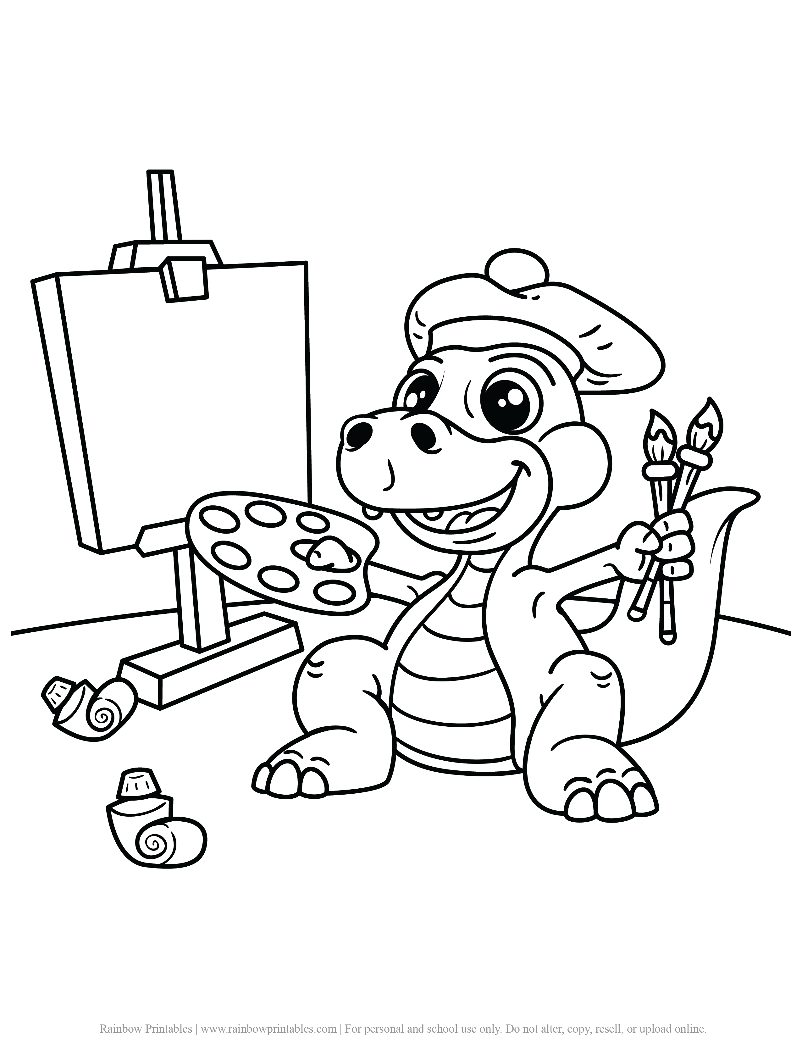 FREE DINOSAUR COLORING PAGES ACTIVITY FOR KIDS AND BOYS DINO DRAGON PRINTABLE-16
