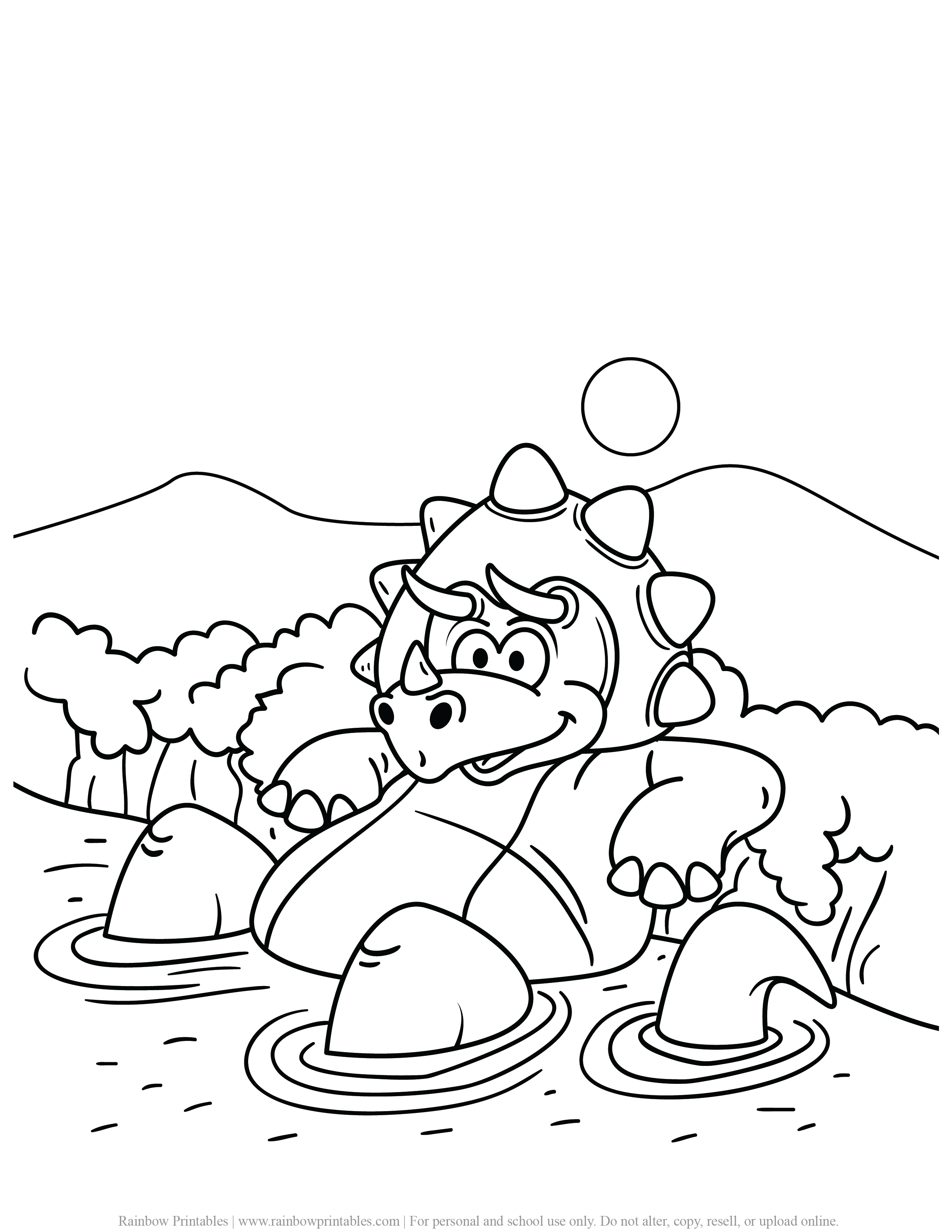 FREE DINOSAUR COLORING PAGES ACTIVITY FOR KIDS AND BOYS DINO DRAGON PRINTABLE-17