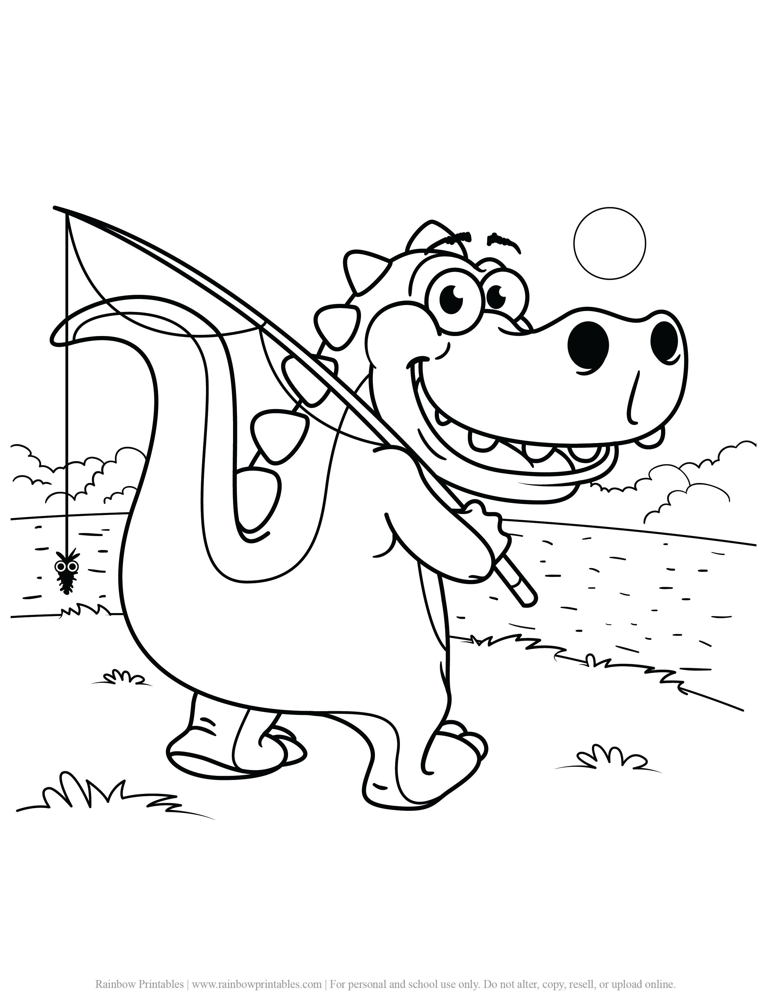 FREE DINOSAUR COLORING PAGES ACTIVITY FOR KIDS AND BOYS DINO DRAGON PRINTABLE-18