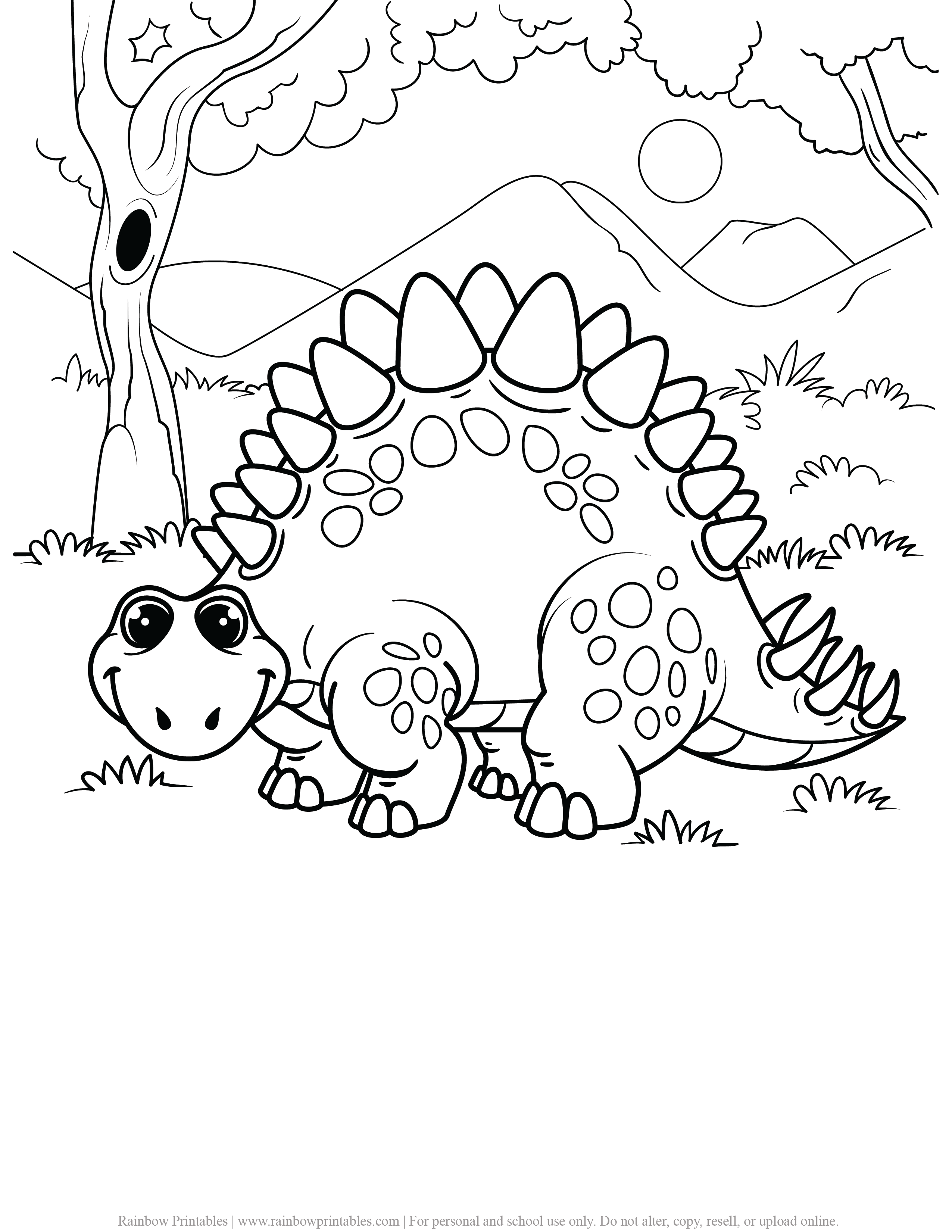 FREE DINOSAUR COLORING PAGES ACTIVITY FOR KIDS AND BOYS DINO DRAGON PRINTABLE-19