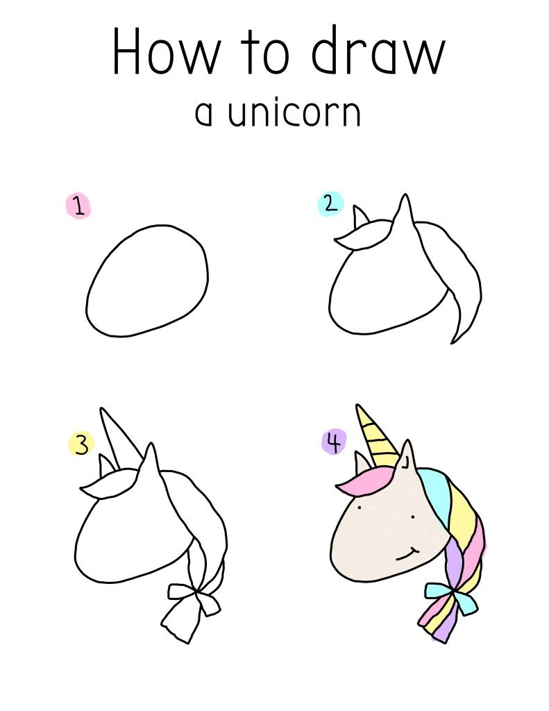 HOW TO DRAW A CUTE CHIBI UNICORN-01
