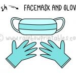 How To Draw Medical Face Mask & Hospital Gloves