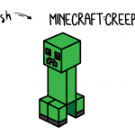 How To Draw a CREEPER From MINECRAFT Step by Step for Kids