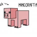 How To Draw a Minecraft Pig - Simple Easy Line Drawing Guide