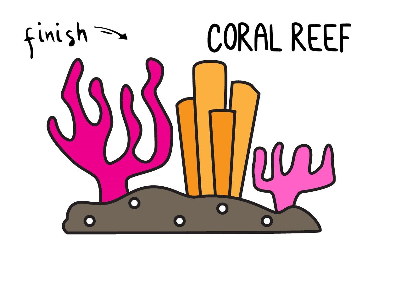 How To Draw Beautiful Sea Coral Reefs (Easy Drawing Guide for Kids)