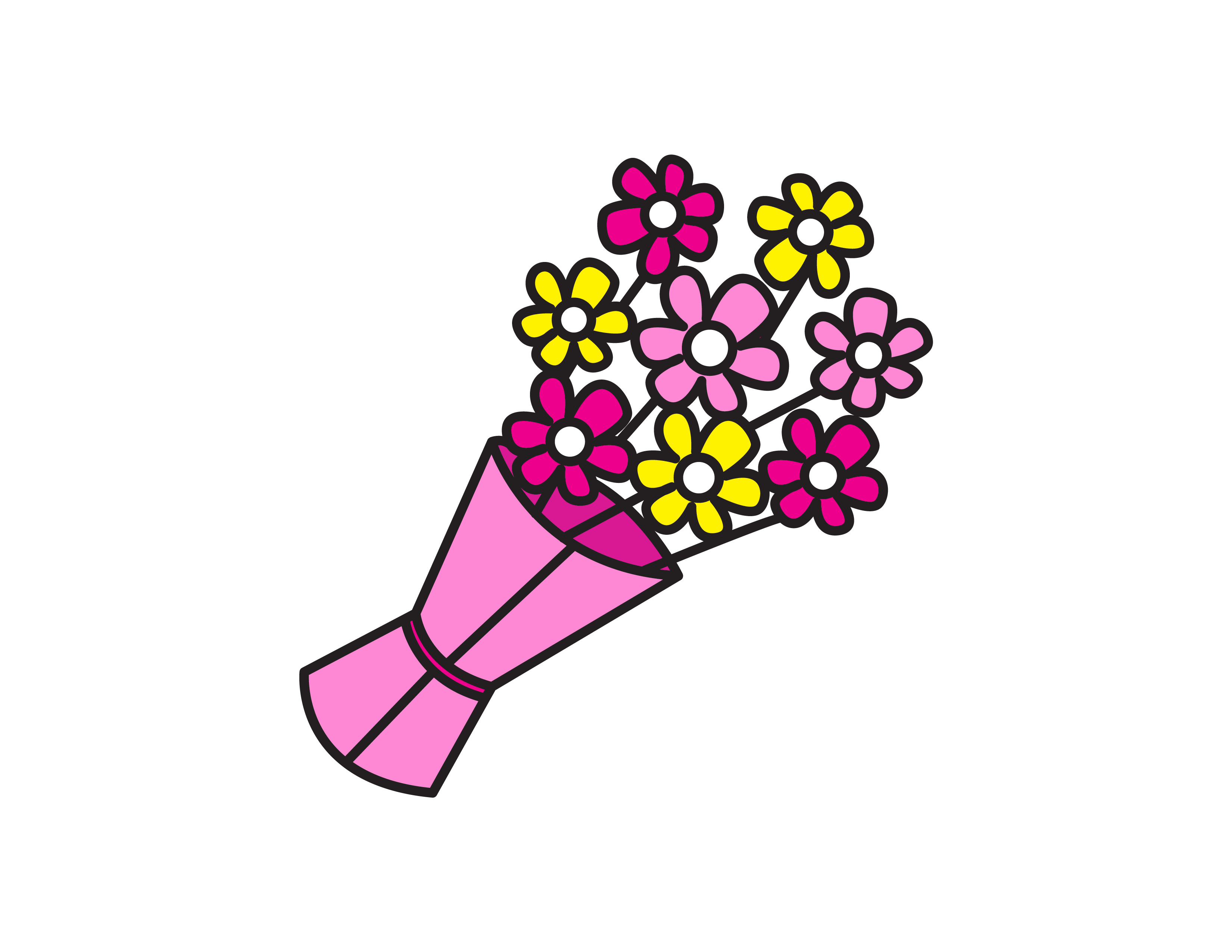 How To Draw Tutorials For Kids: Bouquet of Flowers – Easy Drawing Guide