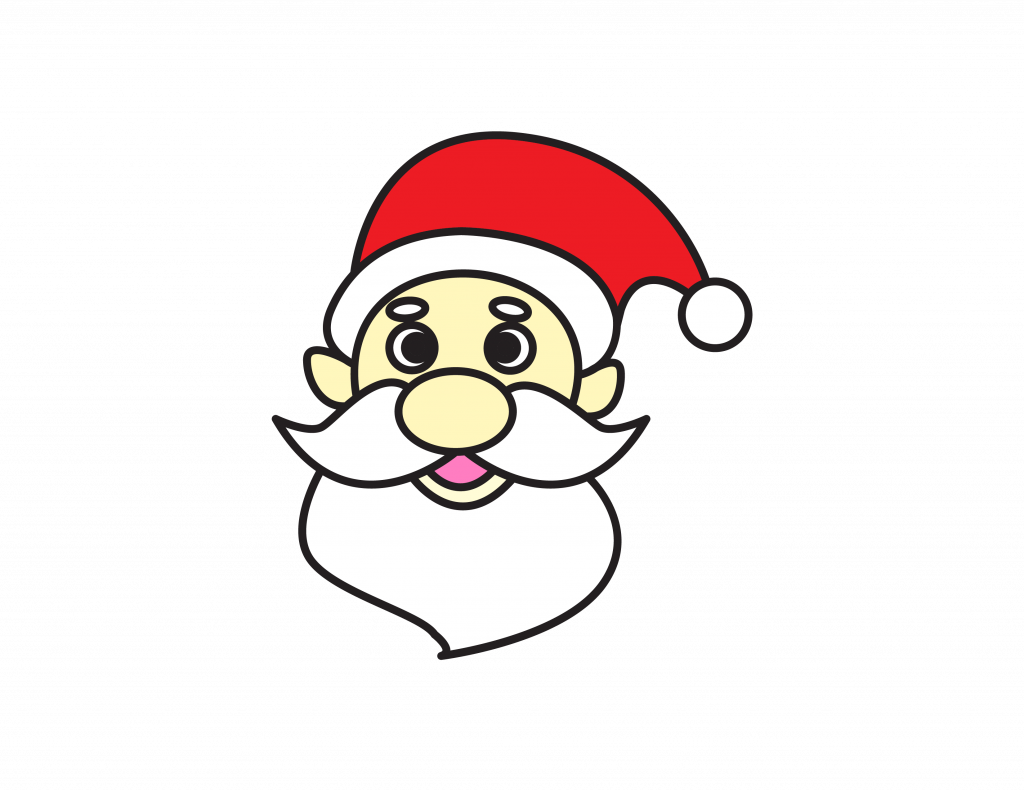 How To Draw Tutorials For Kids SANTA CLAUS FACE Step by step for kids easy simple guide