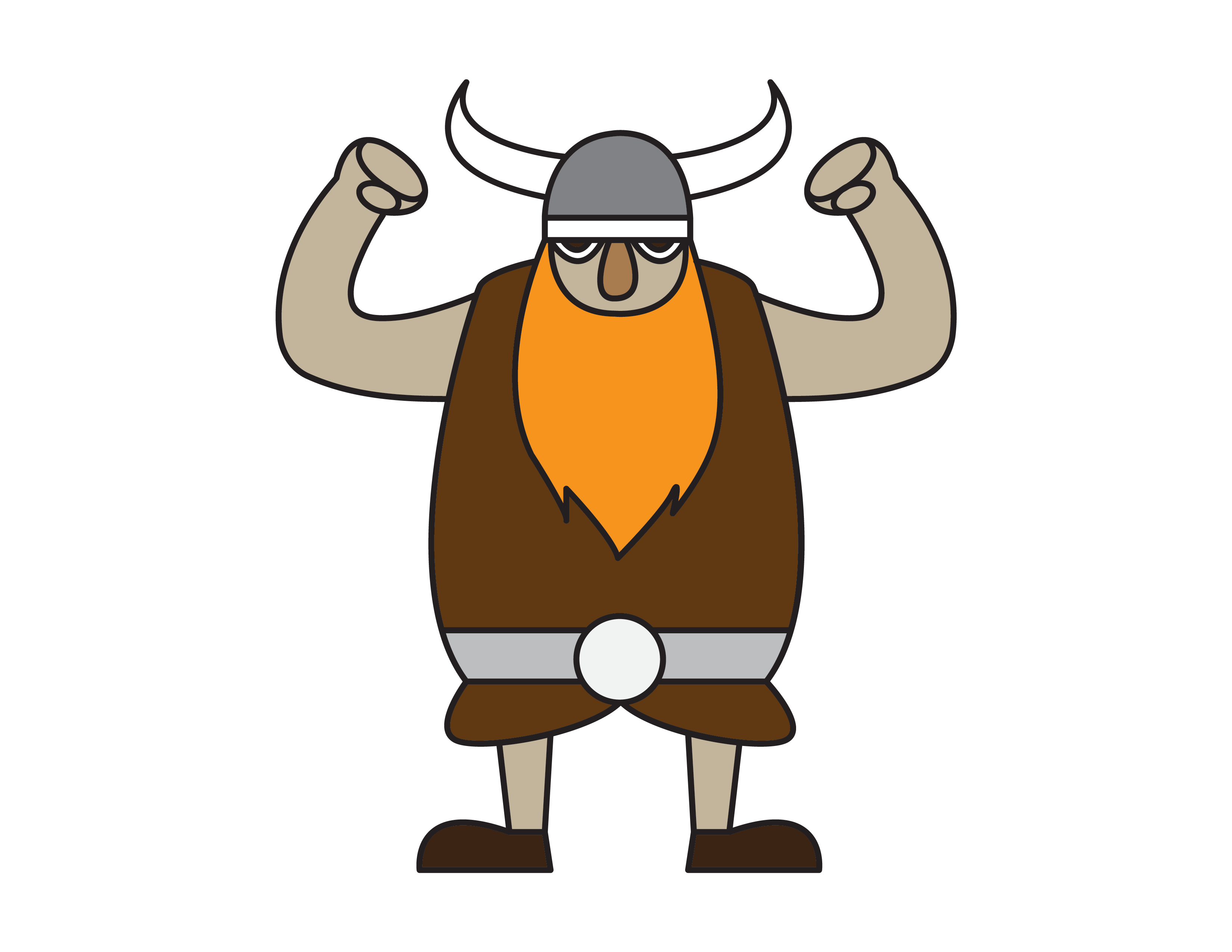How To Draw a Funny Cartoon Viking Warrior for Young Kids