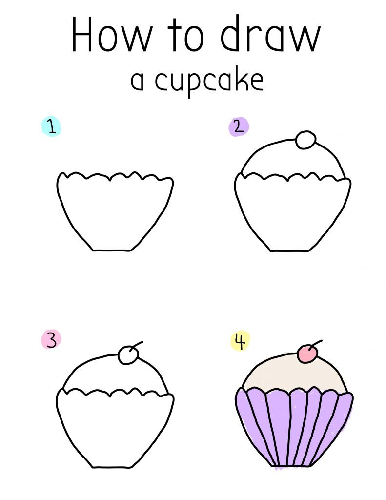 How To Draw a CUTE CUPCAKE CHIBI STYLE