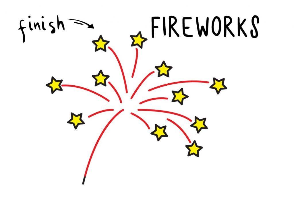 How to Draw Fireworks Final