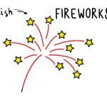How To Draw Cartoon Fireworks for Kids (Easiest Art Tutorial Ever!)