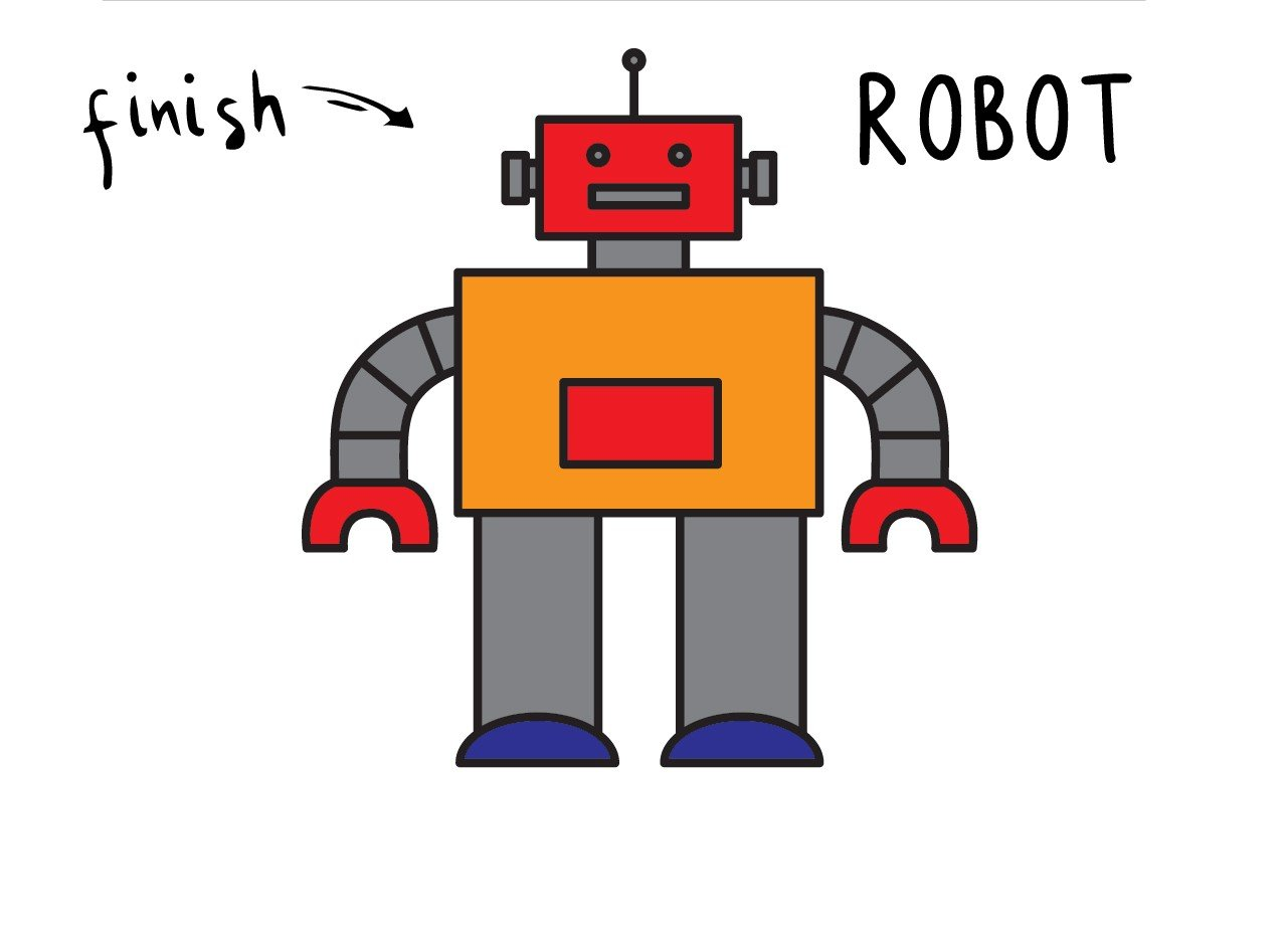 How To Draw a Cool Robot Toy (Easy Step by Step for Kids)
