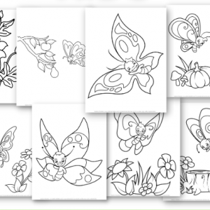 IMAGE BUTTERFLY COLORING PAGES FOR KIDS GIRLS