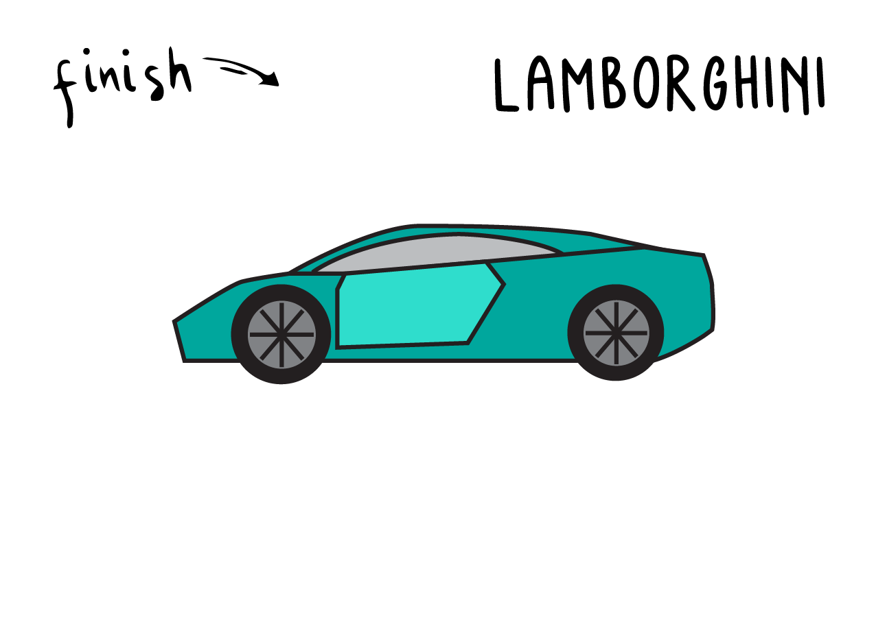 How To Draw a Cool Lamborghini Car (Very Easy Tutorial for Kids)