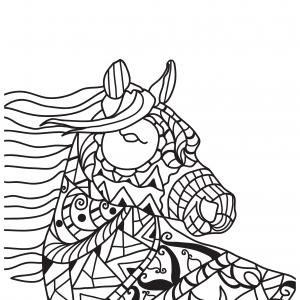 Pony Mandala Pattern Mosaic Coloring Pages