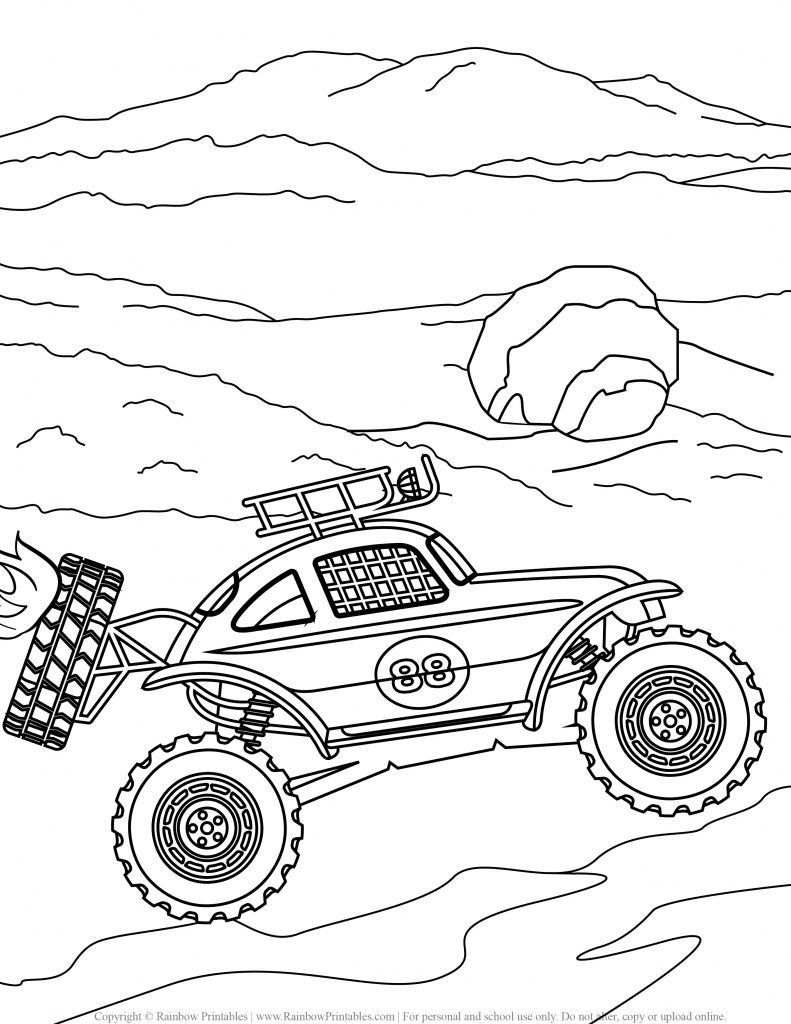 Monster Truck Coloring Pages for Free