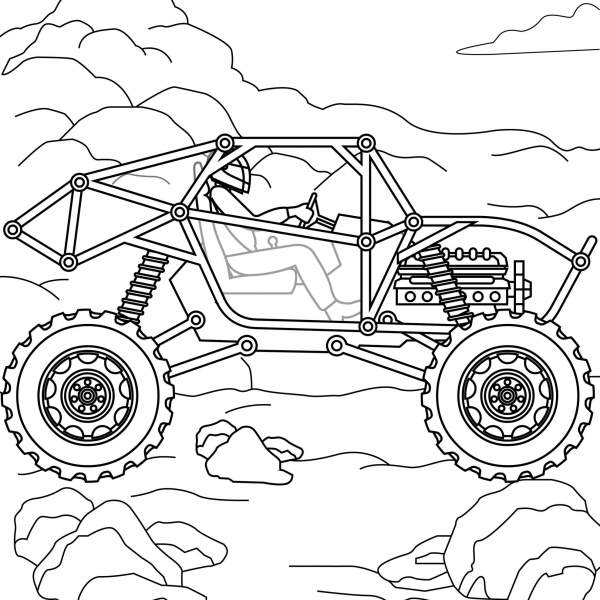 Monster Truck coloring pages, hot wheels, grave digger, jam, games drawing, monster truck party madness, coloring pages for boys, logo, USA America illustration (2)