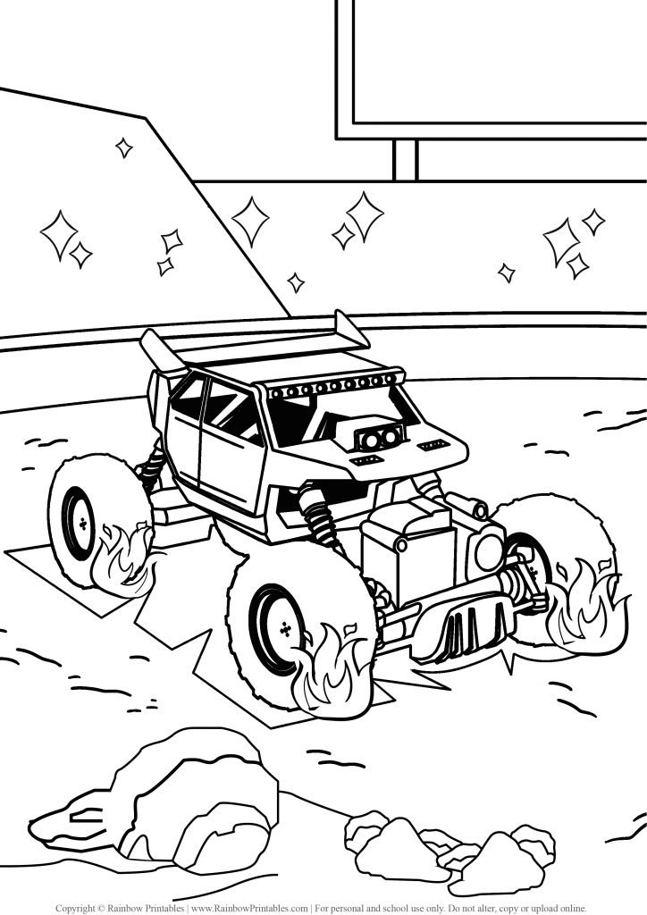 Monster Truck coloring pages, hot wheels, grave digger, jam, games drawing, monster truck party madness, coloring pages for boys, logo, USA America illustration