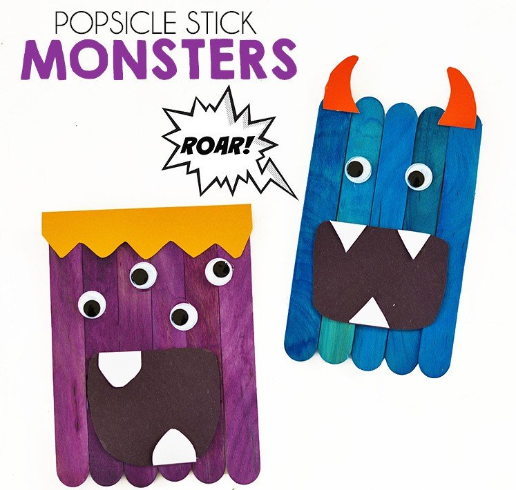 monsters made with popsicle sticks