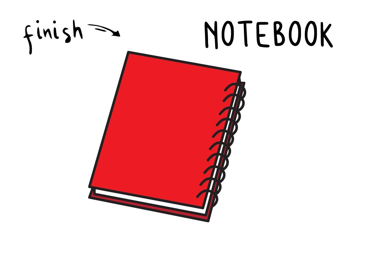 How To Draw a School Notebook – Easy Doodle Tutorial for Kids