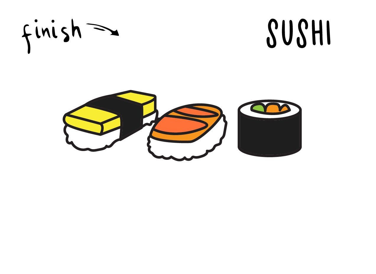 Learning To Draw…Sushi & Nigiri! Easy Step By Step Tutorial Guide