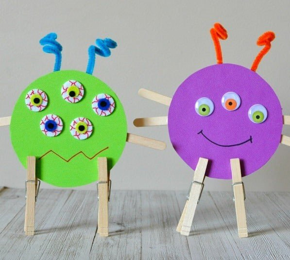 recycled CD monsters