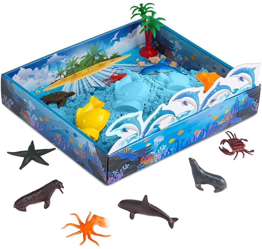 3D Sandbox Sea Creatures Diorama Set