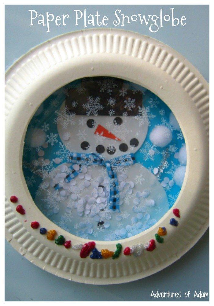 Artsy Snow Globe Decoration Idea