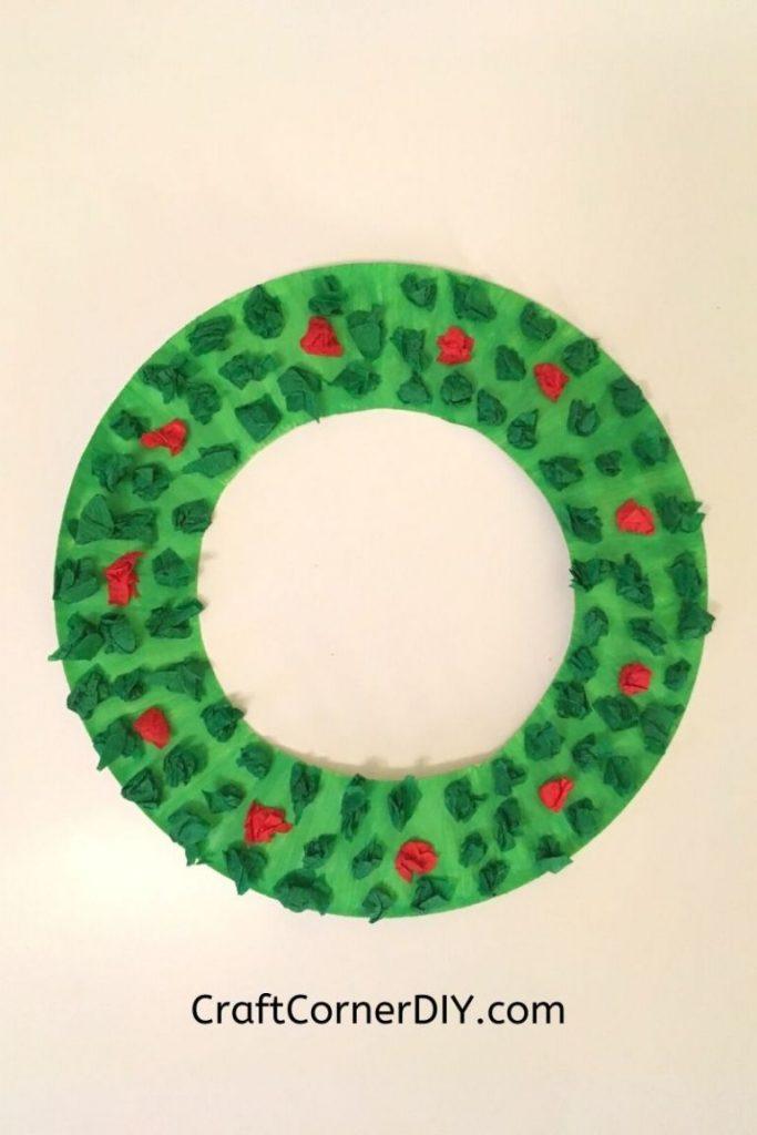 budget-friendly Christmas wreath craft