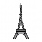 How To Draw The Eiffel Tower - Simple & Easy Illustration Guide for Kids