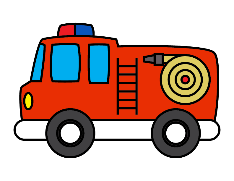 How To Draw a Red Firetruck For Children – Step By Step Line Illustration Guide