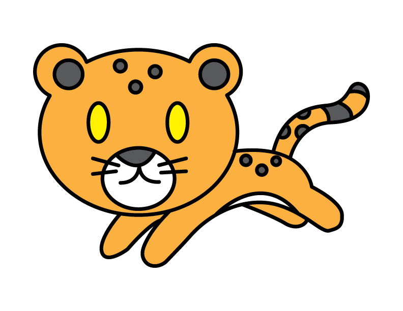 How To Draw a Cartoon Leopard Cub (Big Cat) – Super Easy & Simple For Young CHILDREN!
