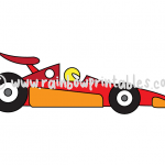 How To Draw a Race Car - Easy Cartoon Doodle Lesson for Kids